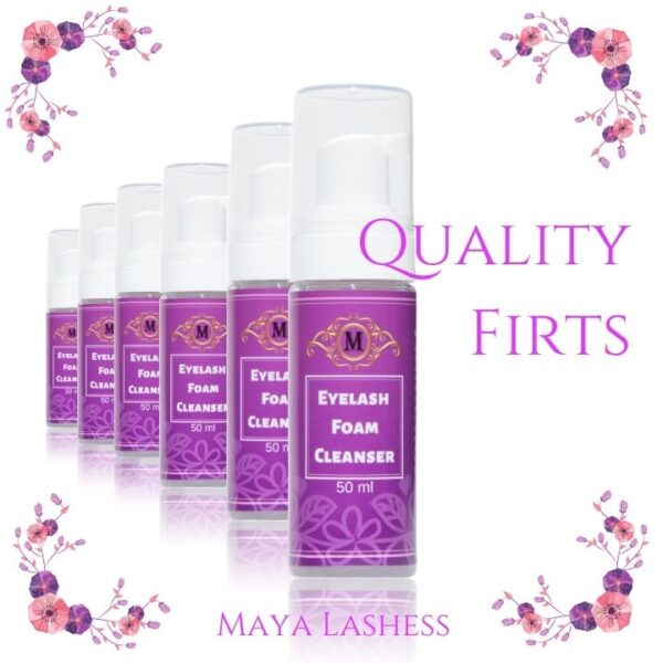 eyelashes foam cleanser