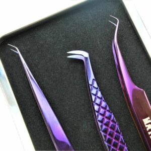 eyelashes tweezers set